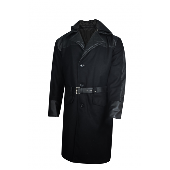 Mens Assassins Creed Syndicate Jacob Frye Leather Wool Trench Coat