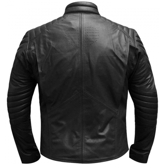 Mens Small Ville Tom Welling Superman Real Leather Jacket