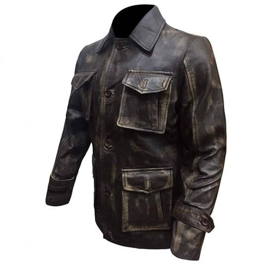 Mens Supernatural Jensen Ackles (Dean Winchester) Distressed Real Leather Jacket