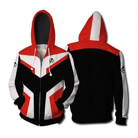 Mens The Avengers Endgame Superhero Cosplay Quantum Warfare Hoodie Jacket