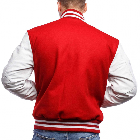 Unisex Letterman Melton Wool Body & Premium Leather Sleeves Jacket