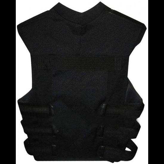 Unisex Thomas Jane Punisher Tactical Black Leather Vest