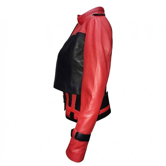 Women Injustice 2 Harley Quinn Leather Jacket