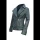 Womens Biker Style Cross Zipper Real Leather Jacket