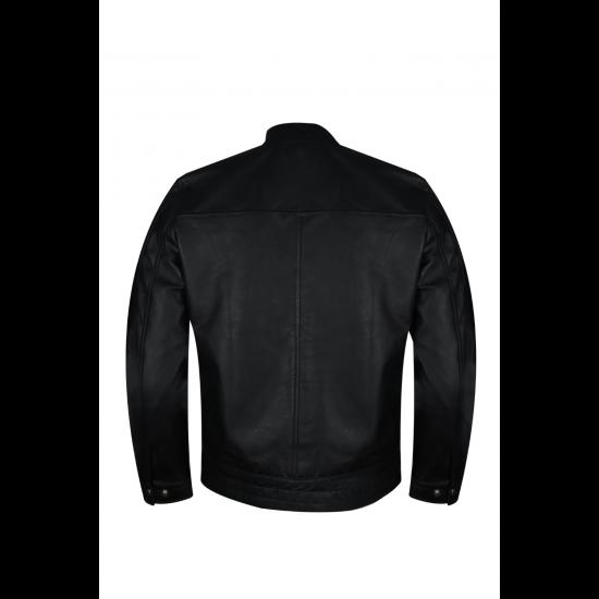 Mens WWE Superstar Dean Ambrose DA Logo Black Real Leather Jacket