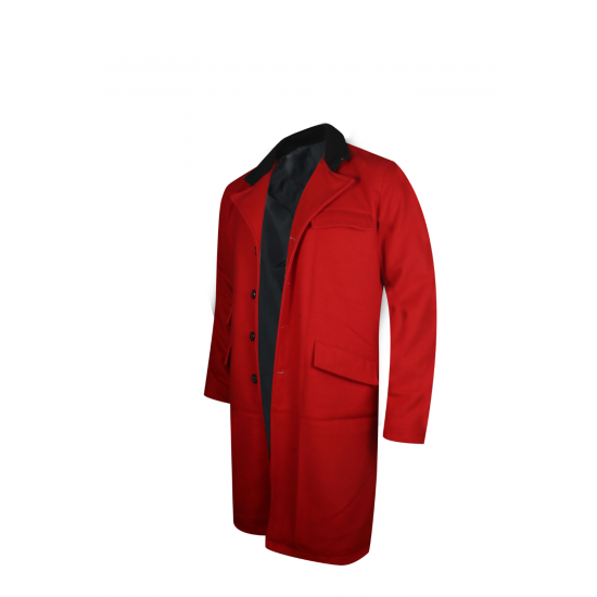 Hugh Jackman The Greatest Showman Red Trench Coat