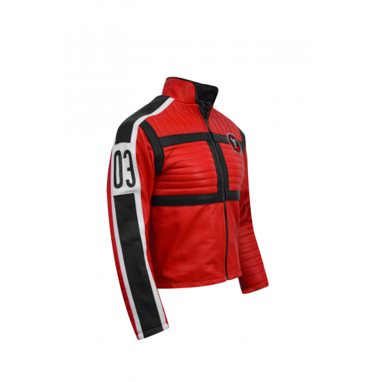 Kobra Kid My Chemical Romance Mikey Red Real Leather Jacket